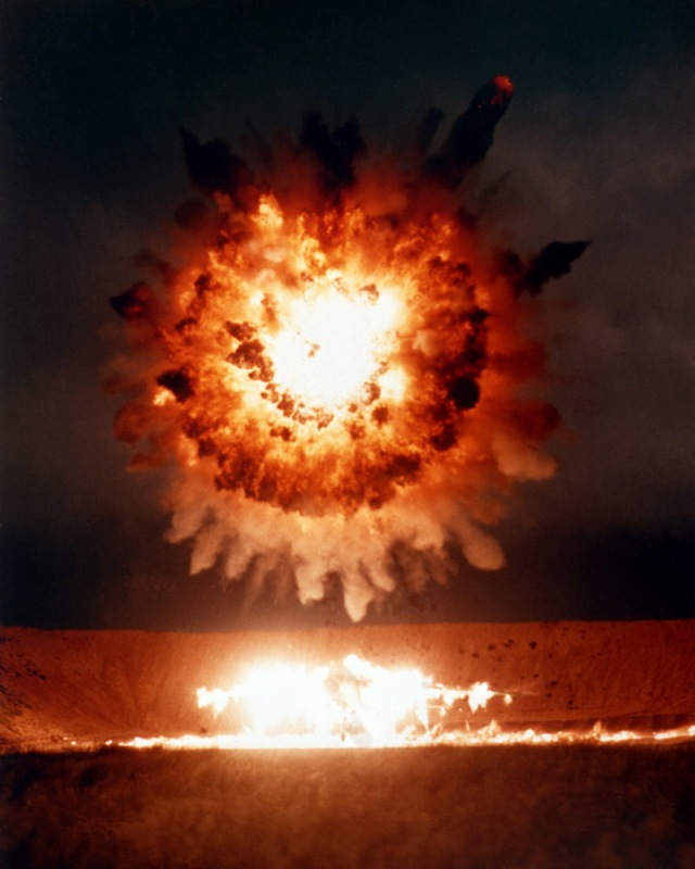 20050304 US Defense VisualIn Tomahawk cruise missile detonation over target San Clemente Island California 19860401