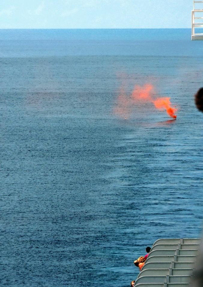 Man Overboard! It wasn't a drill.