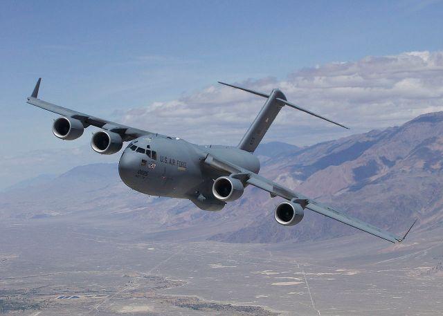 C-17 Globemaster transport.