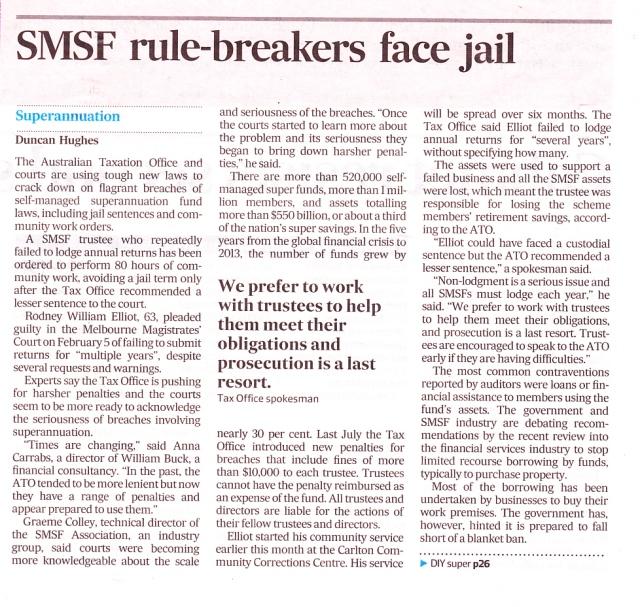 SMSF jail threat