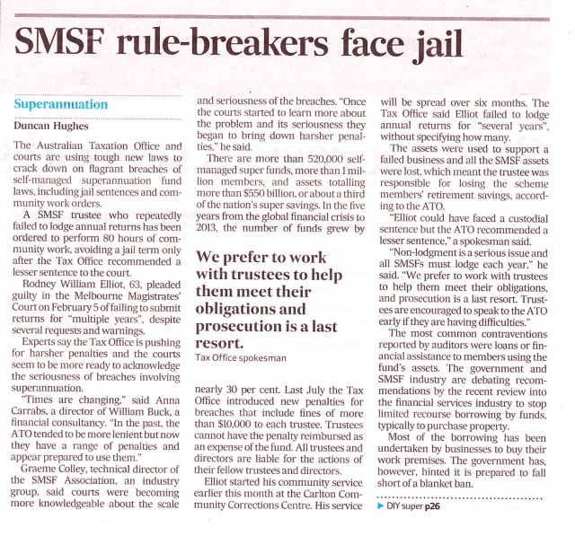 SMSF jail threat