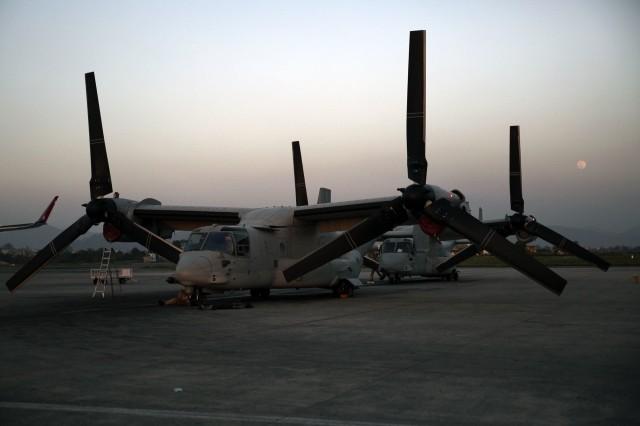 Osprey tilt rotor plane