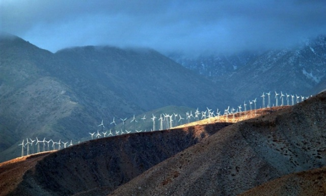 Wind farm near Palm Springs Calif
