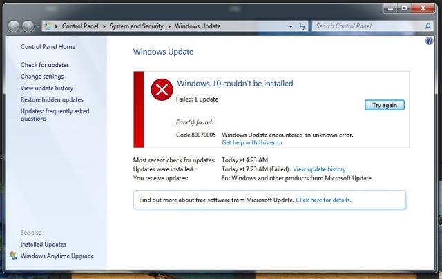 Win10 install error 8Aug15