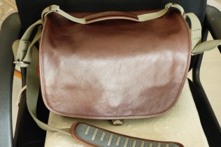 Front, real leather flap.
