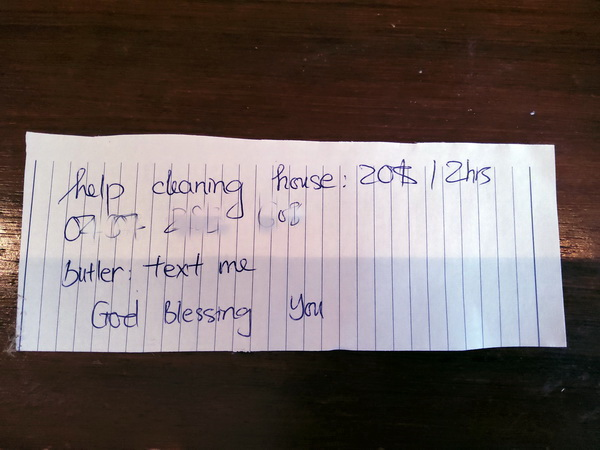 Cleaner note