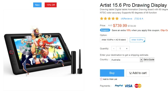 Screenshot_2020-04-29 Artist 15 6 Pro professional drawing tablet with screen XP-Pen Australia official Store