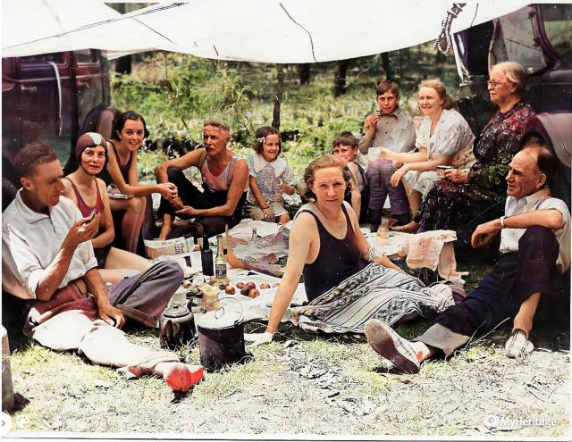 Croft family picnic 1920senh