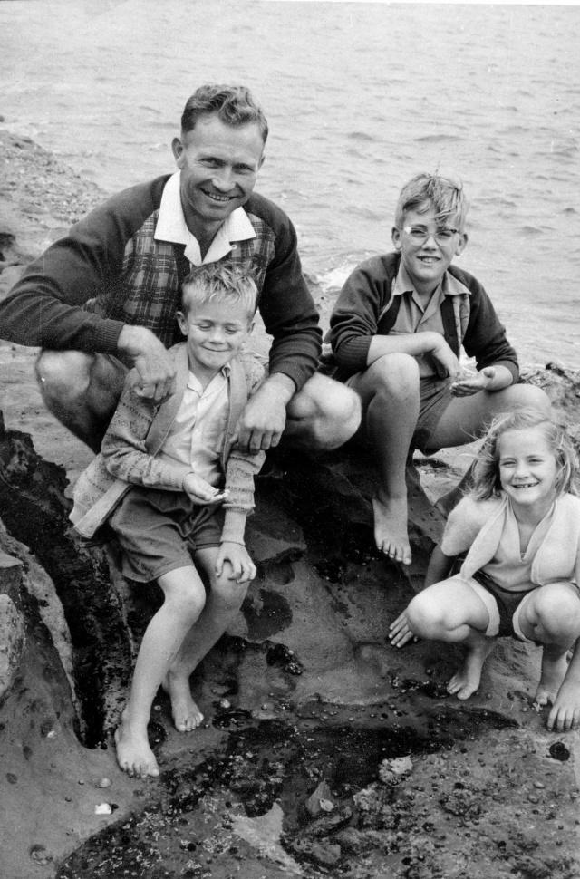 Dad Ian Pete Max c1958